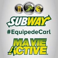 Et c'est repartie pour #Mavieactive #ÉquipedeCarl @SubwayCanada!