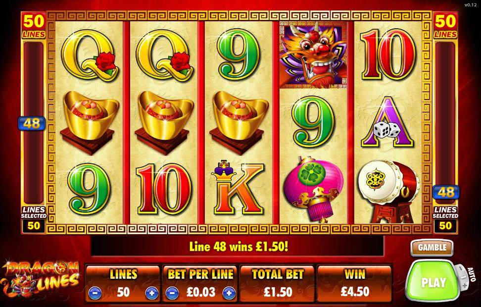 Betfair Casino's Dragon Lines slot