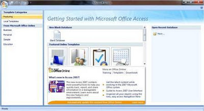 Microsoft Office 2007 Accsess. ms office 2007 enterprise blue edition.