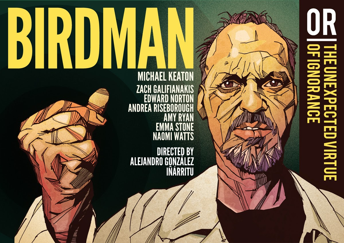 Illustration Birdman Movie Michael Keaton