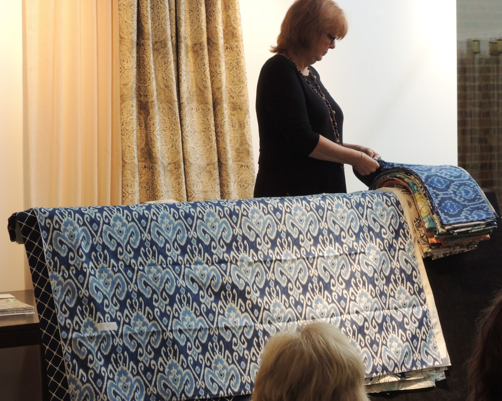 A Designer Asked Me To Explain The Ikat Weaving Process During Our Fall Fabric Presentation At Wesco Fabrics Showroom In Denver Design District