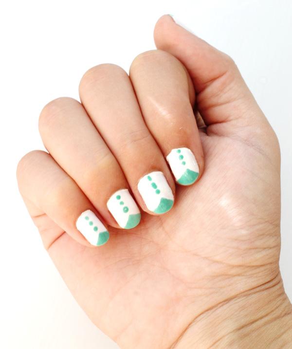 Carmen Mariah: Cheeky Nails {Turquoise Tuxedos!}