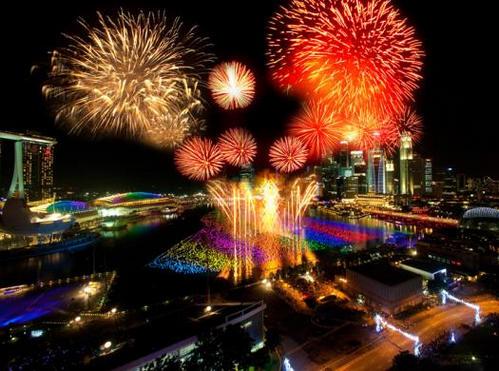 Perayaan datangnya tahun baru 2013 di Singapore