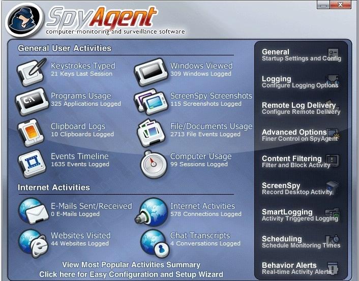 تحميل برنامج المراقبة Spytech SpyAgent 7.57 لتسجيل ضربات المفاتيح، وفتح النوافذ وكلمات السر المستخدمة