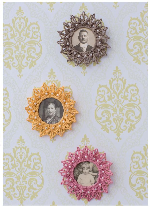 Patron en Pdf Broches para Retratos - Patrones Crochet