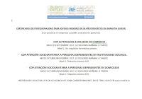 Certificados de profesionalidad para jóvenes