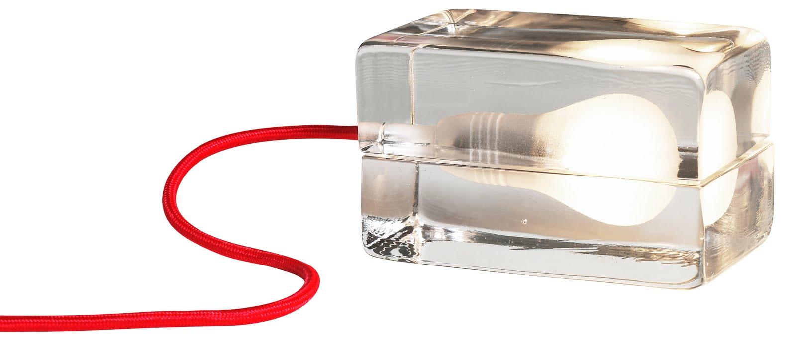 Glass Light Block Table Lamp Modern Design By