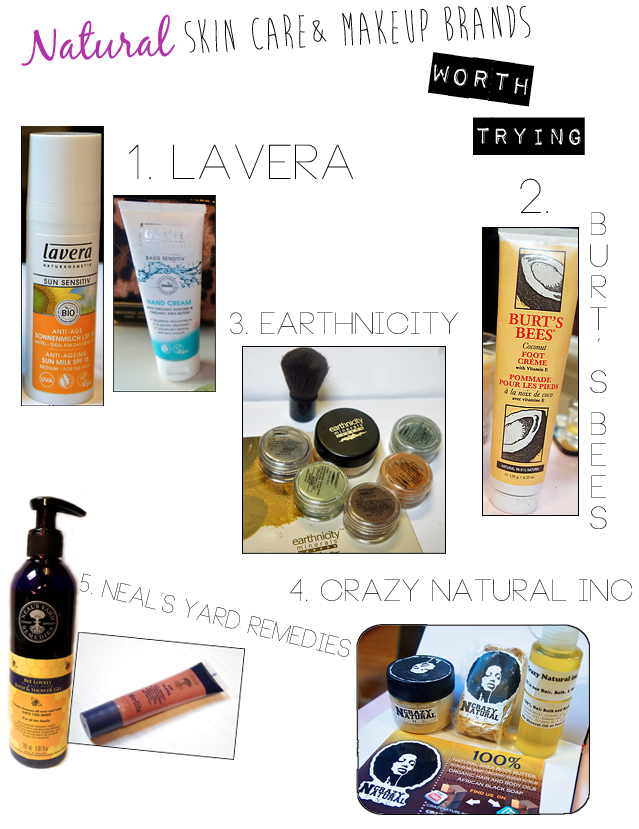 Natural, organic and affordable natural skin care and makeup brands (US and UK)