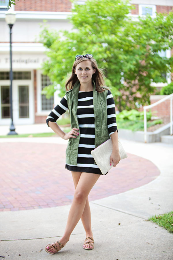 Jillgg 39 S Good Life For Less A West Michigan Style Blog My Everyday Style Striped Dress Combo