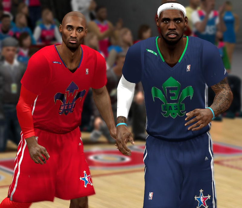 NBA 2K14 Med's Roster ft. 2014 Sleeved All-Star Jerseys