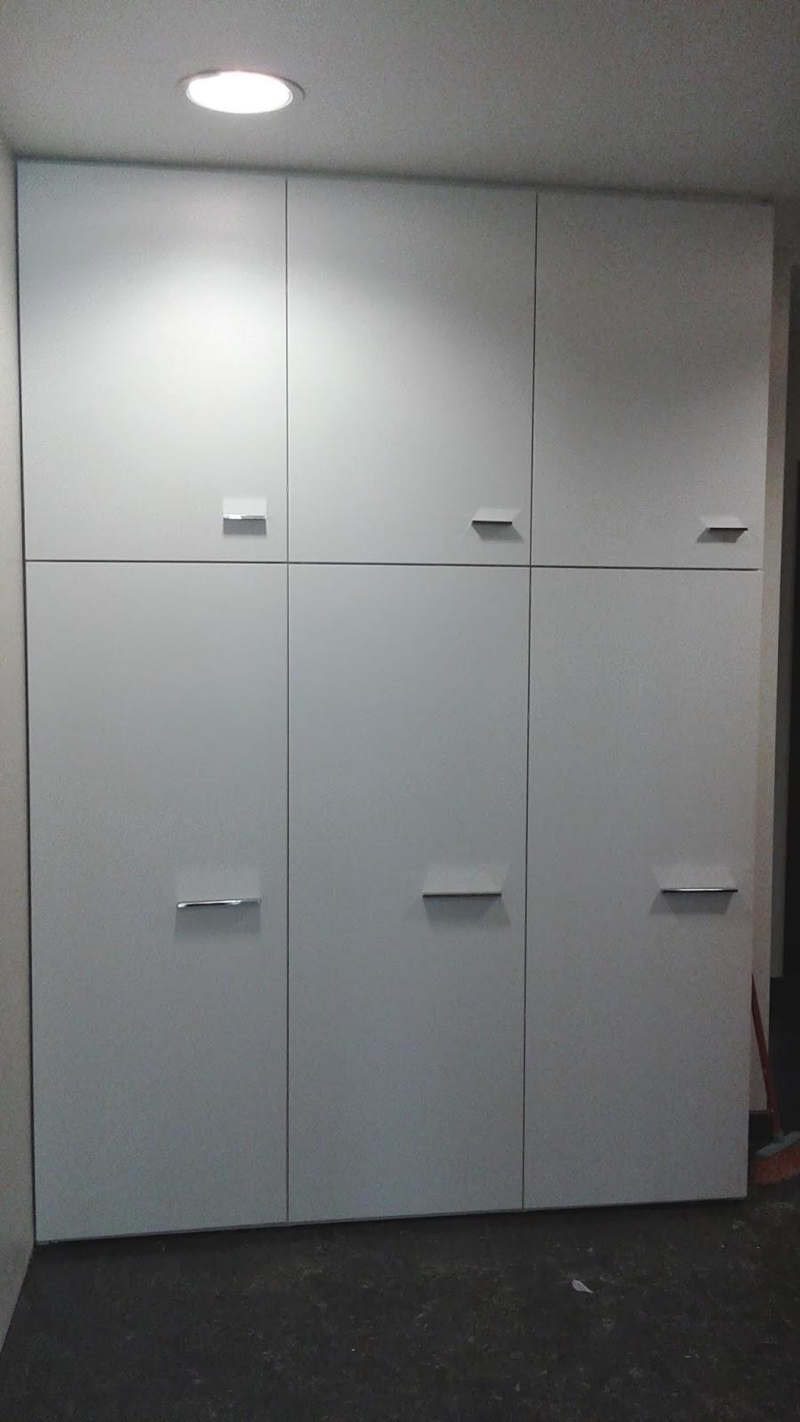 armario recibidor laca blanca