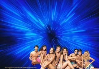 Fundo de tela dos Morangos com Açucar Actores na Praia série juvenil em wallpaper Vórtice Azul Morangos com Açucar