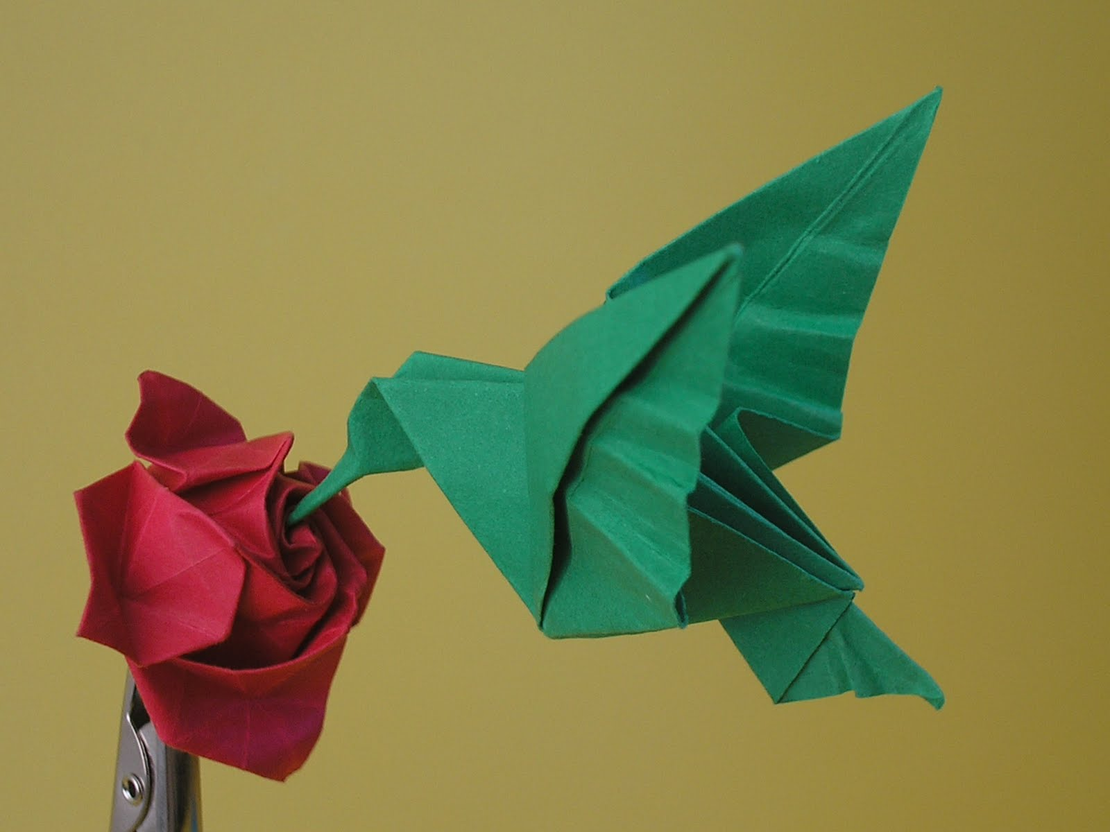 Papirometa beija flores ou colibris 1 - Origami para todos ...
