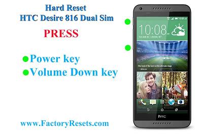 Hard Reset HTC Desire 816 Dual Sim