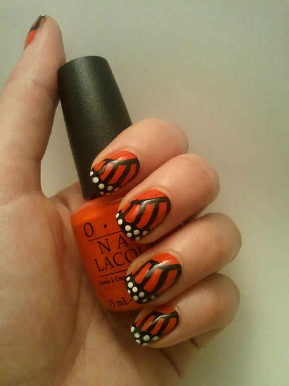 31 Day Nail Art Challenge Fill Opi A Roll In The Hague Orange