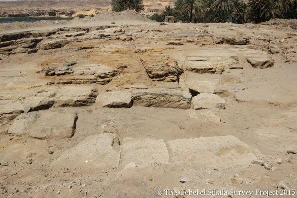 Les restes d'un temple égyptien retrouvés à Gebel Silsileh