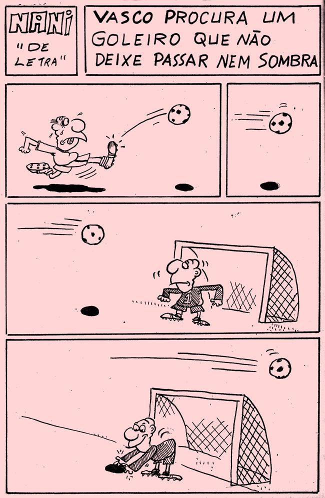 10/01/1975 - Vasco procura um goleiro que não deixa passar nem sombra