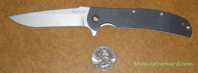 "Kershaw Chill ""Gentleman's Folder"" Pocket Knife - Next To Quarter Showing Scale"