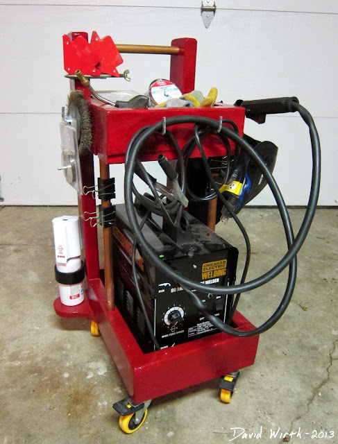 harbor freight welder cart, chicago electric, 90amp