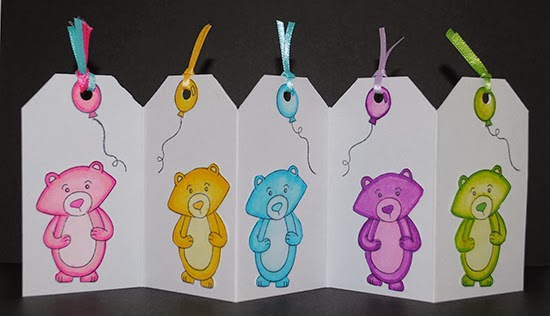 Winston's Birthday Bear Card by Debbie Owens for Newton's Nook Designs