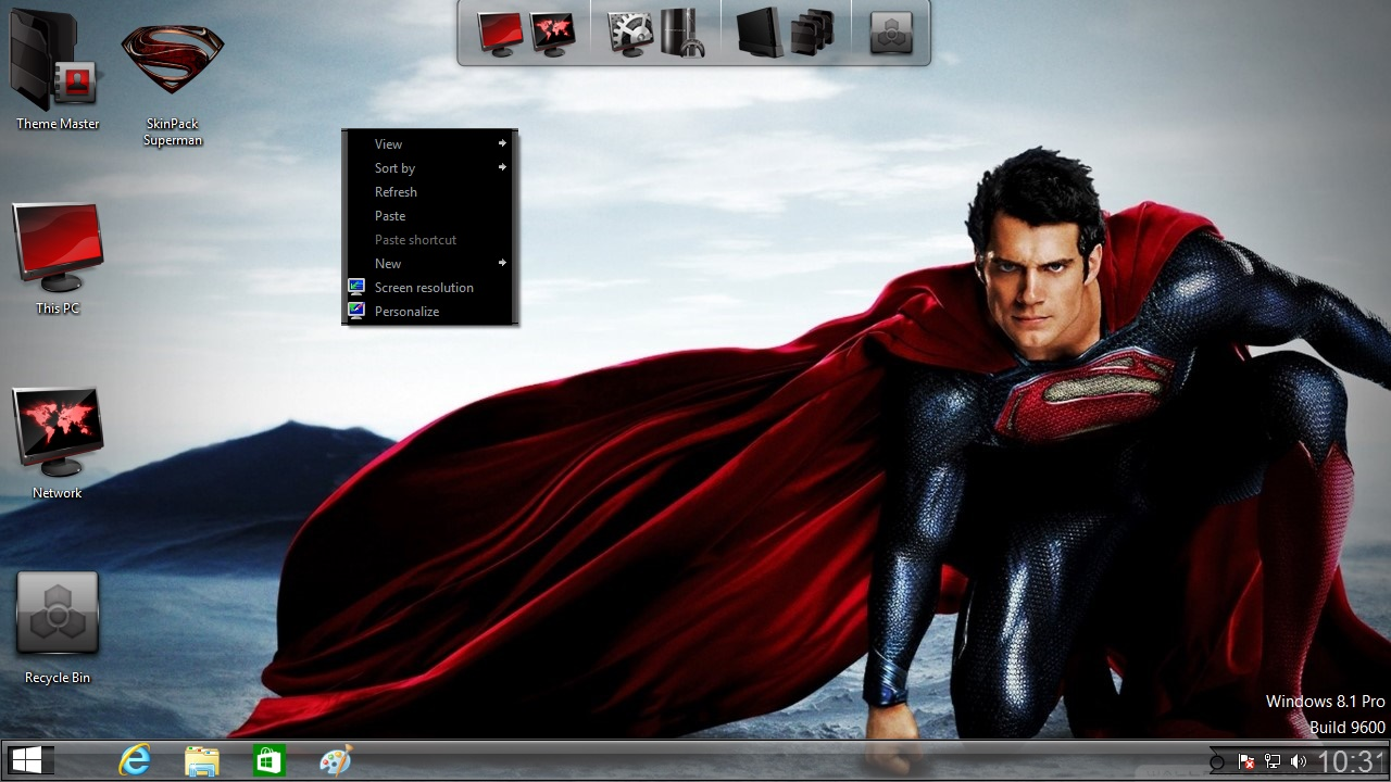 How to install Superman Man of Steel theme on Windows 10