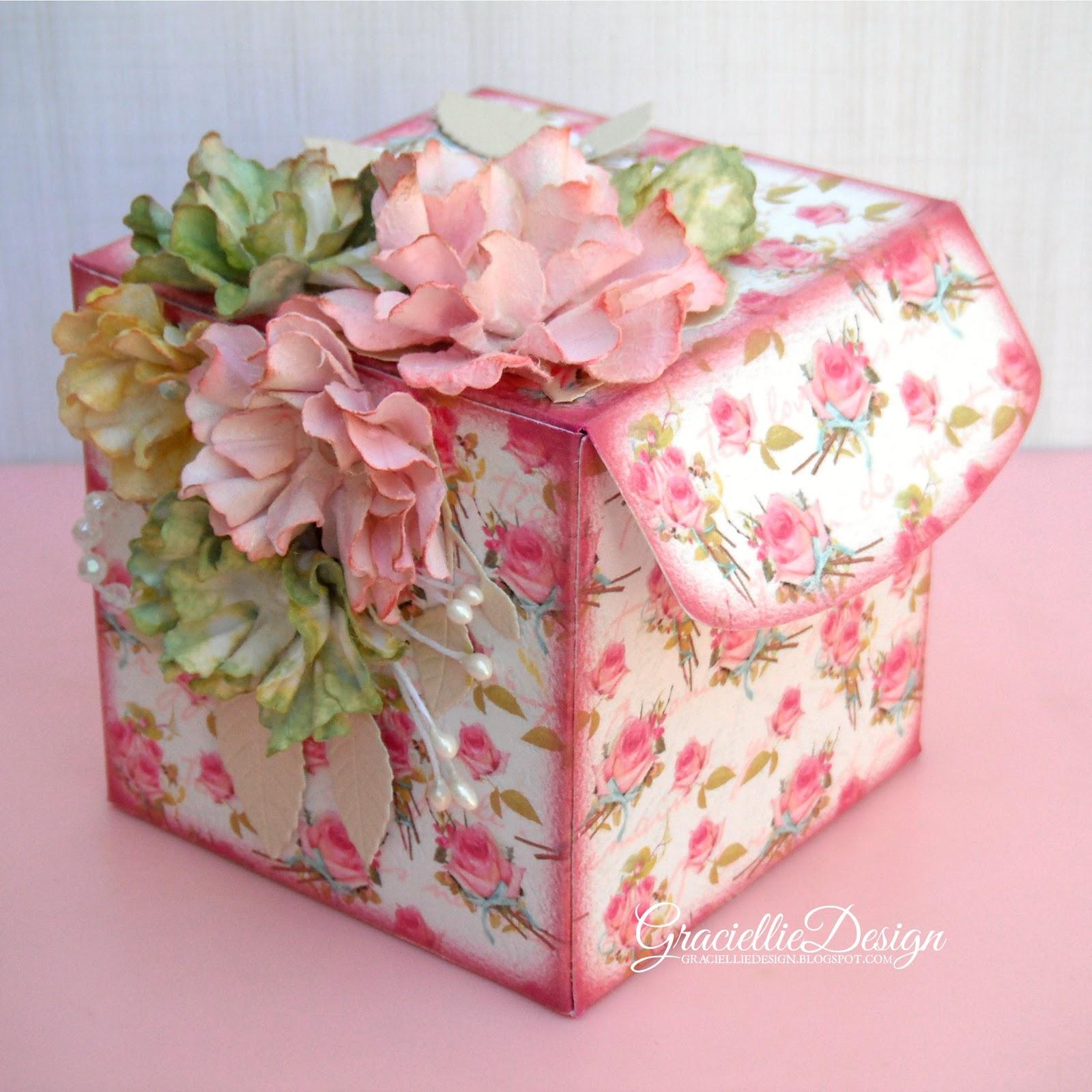 Handmade Tea Box & Flowers <br><small>gift idea for teacher\'s day ...