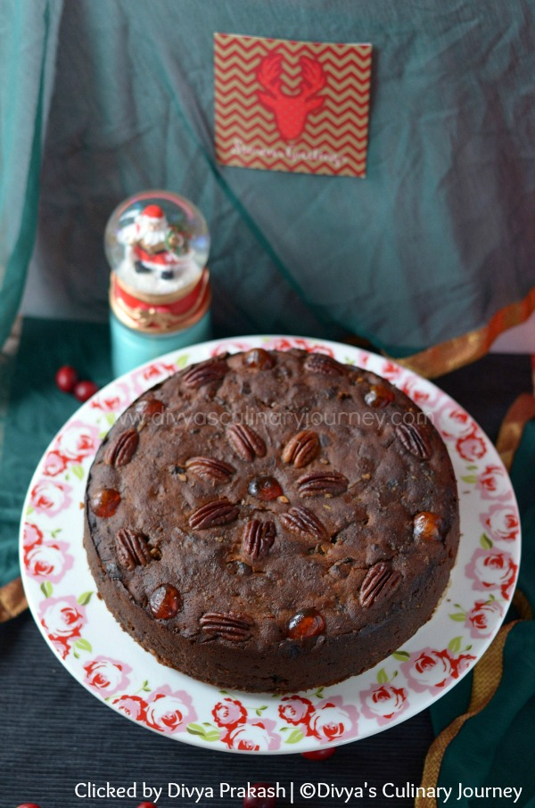 Fruit cake with rum, christmas fruit cake