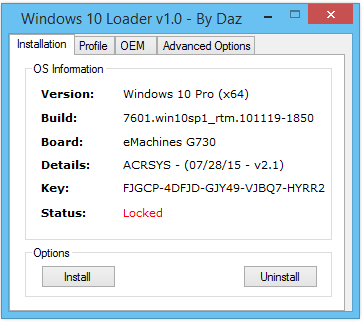 windows loader by daz