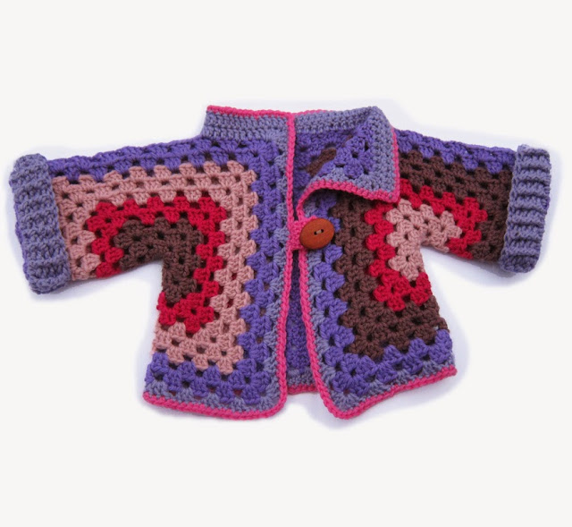 Granny Square Baby Jackets - Free Pattern links