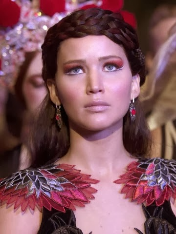 Katniss Everdeen Eye Makeup catching fire