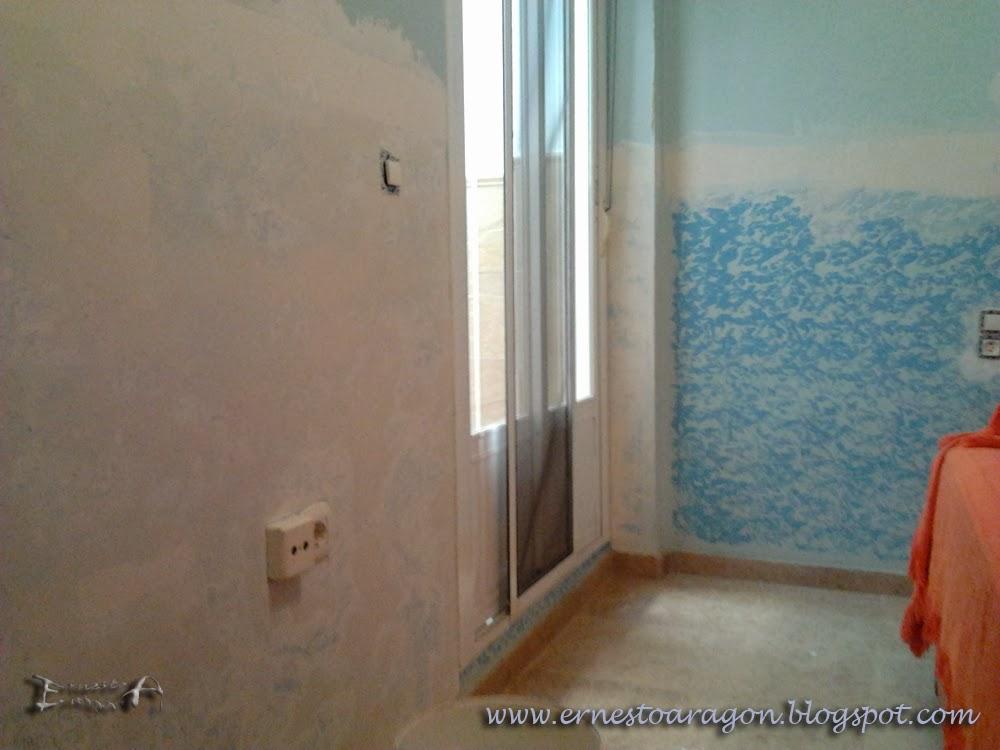 Ernesto arag n pintura para el hogar pintemos una - Como quitar el gotele de una habitacion ...
