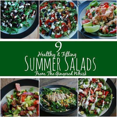 Delicious and Filling Summer Salads (The Gingered Whisk)