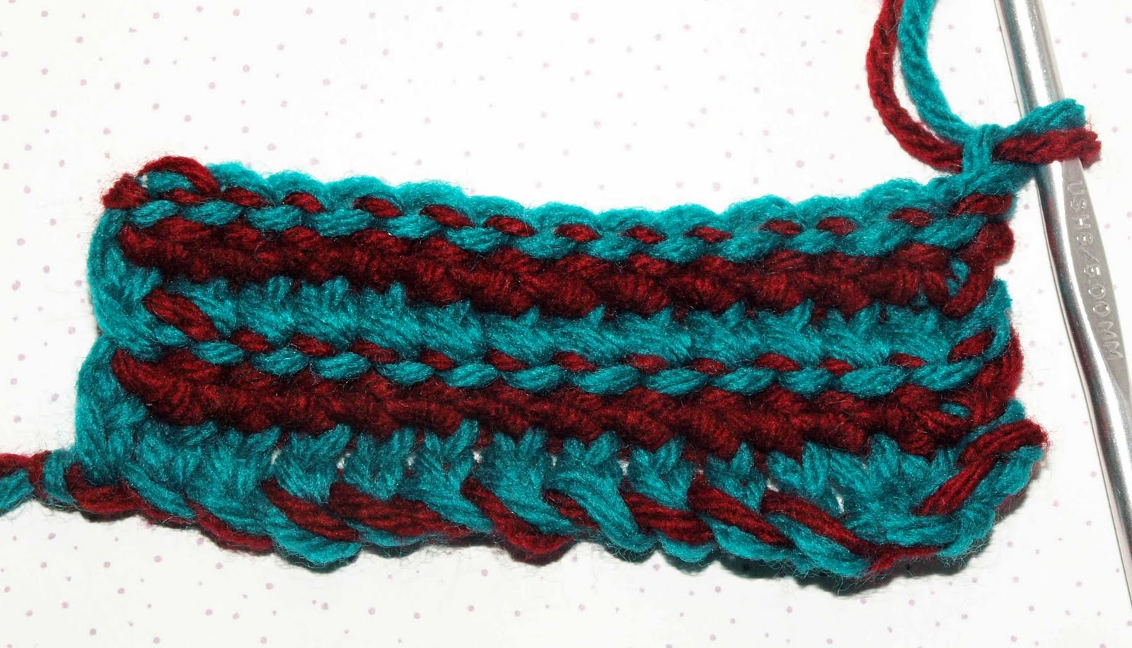 Crochet Stitches Esc : CrochetByKarin: Extended Single Crochet in Two Colors
