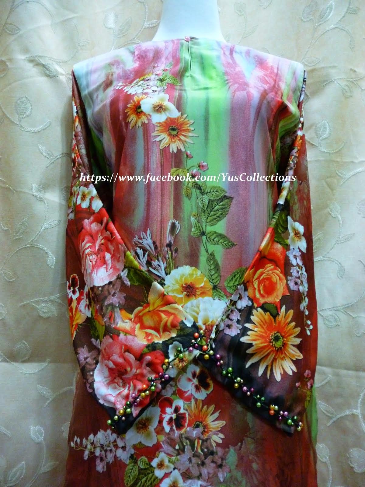Contoh Tempahan Baju Kurung Pesak & Sulaman Manik