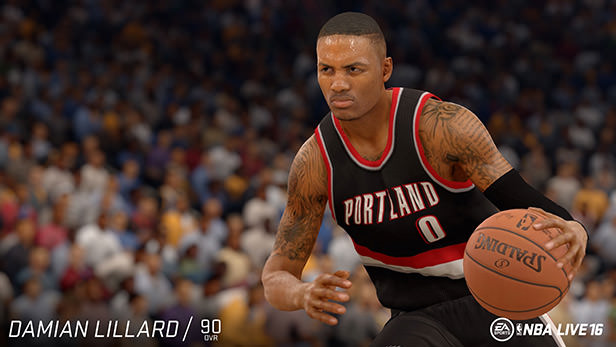 NBA Live 16 Daman Lillard rating