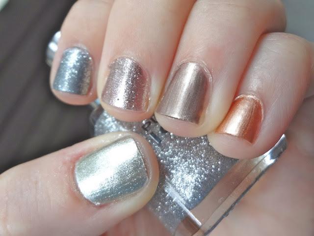 Multiple metals, nail polish