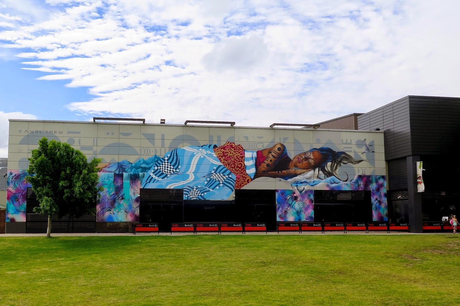 Awol crew paints a new mural in melbourne australia for Australian mural