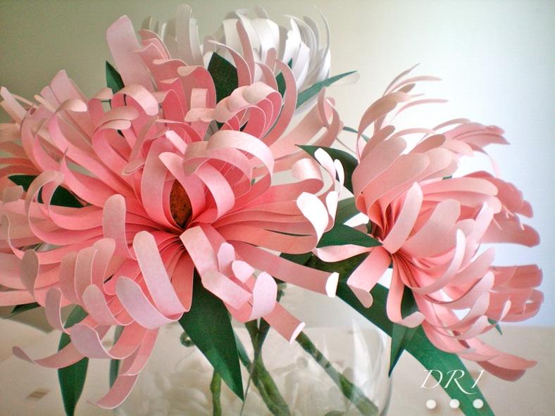 Как делать большие цветы