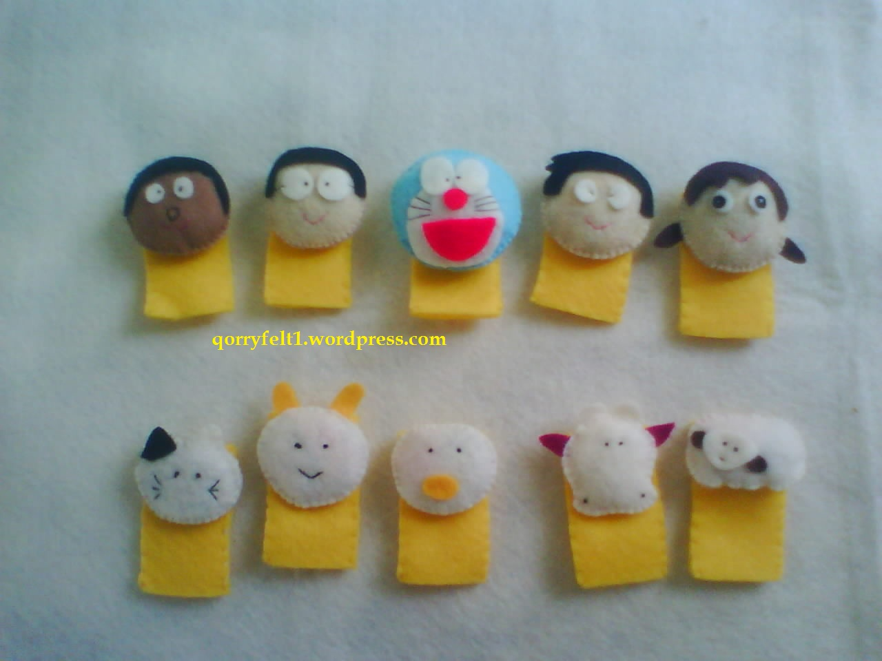 Boneka jari flanel untuk mendongeng, edukasi untuk anak-anak paud dan