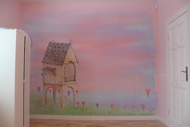 Artistic wall painting, aranżacja pokoju dziewczynki Lublin