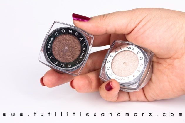 L'Oreal Infallible Eyeshadow Bronzed Taupe, Endless Pearl and Iced Latte – Review and Swatches