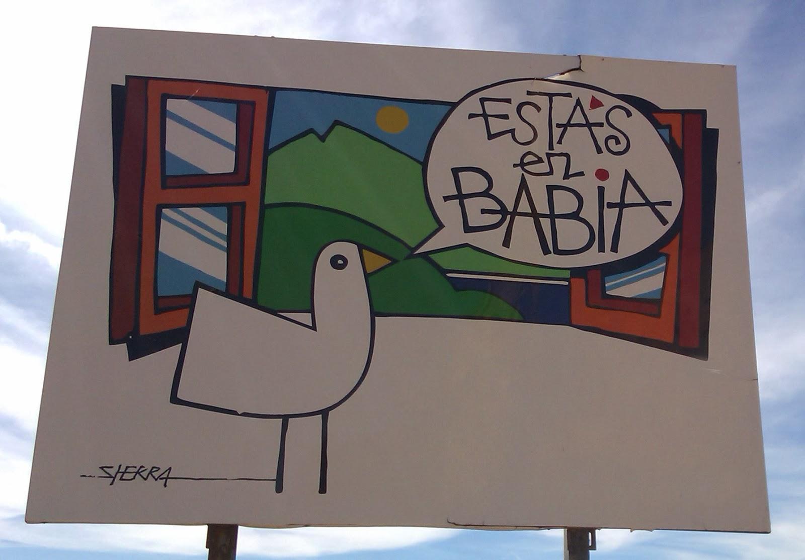 Cartel de entrada a Babia, León