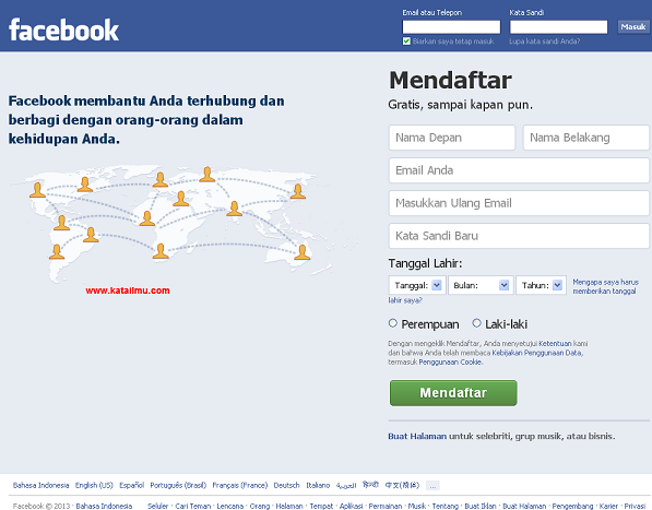 Menarik Menarik Menarik: Cara Membuat Facebook