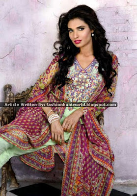 Wardha Saleem Lawn Eid Collection 2015 By Shariq Textile