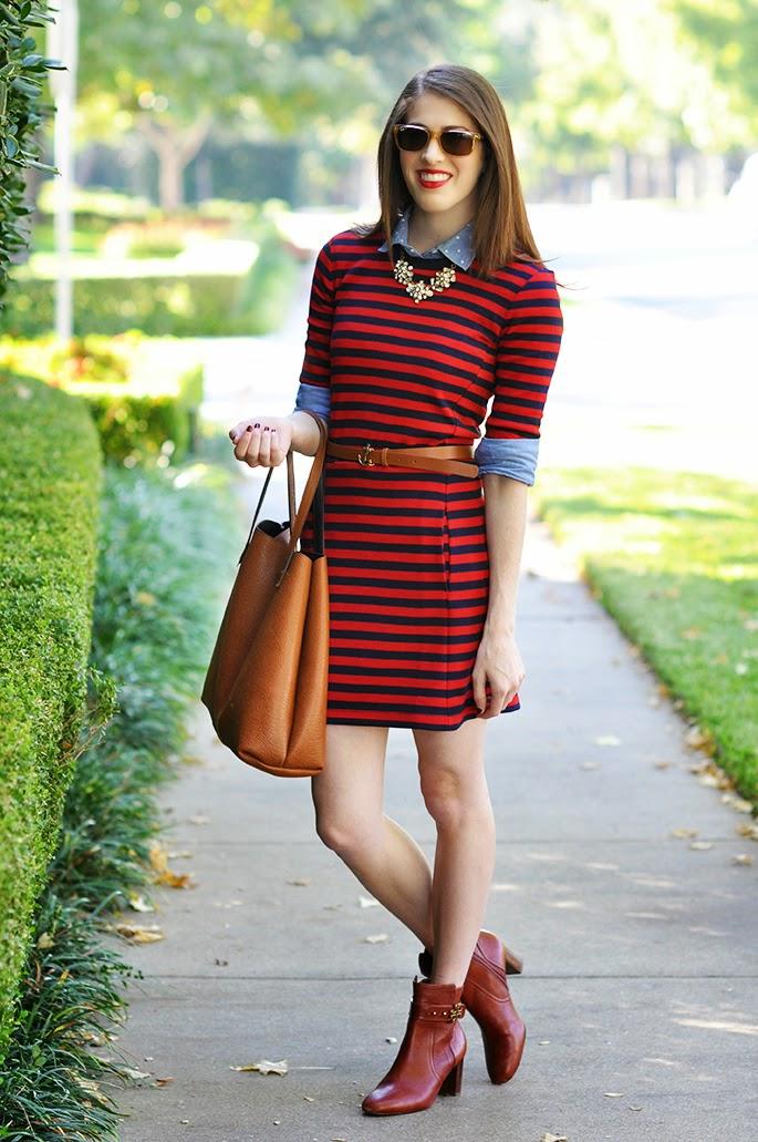 Gap Stripe Ponte Dress