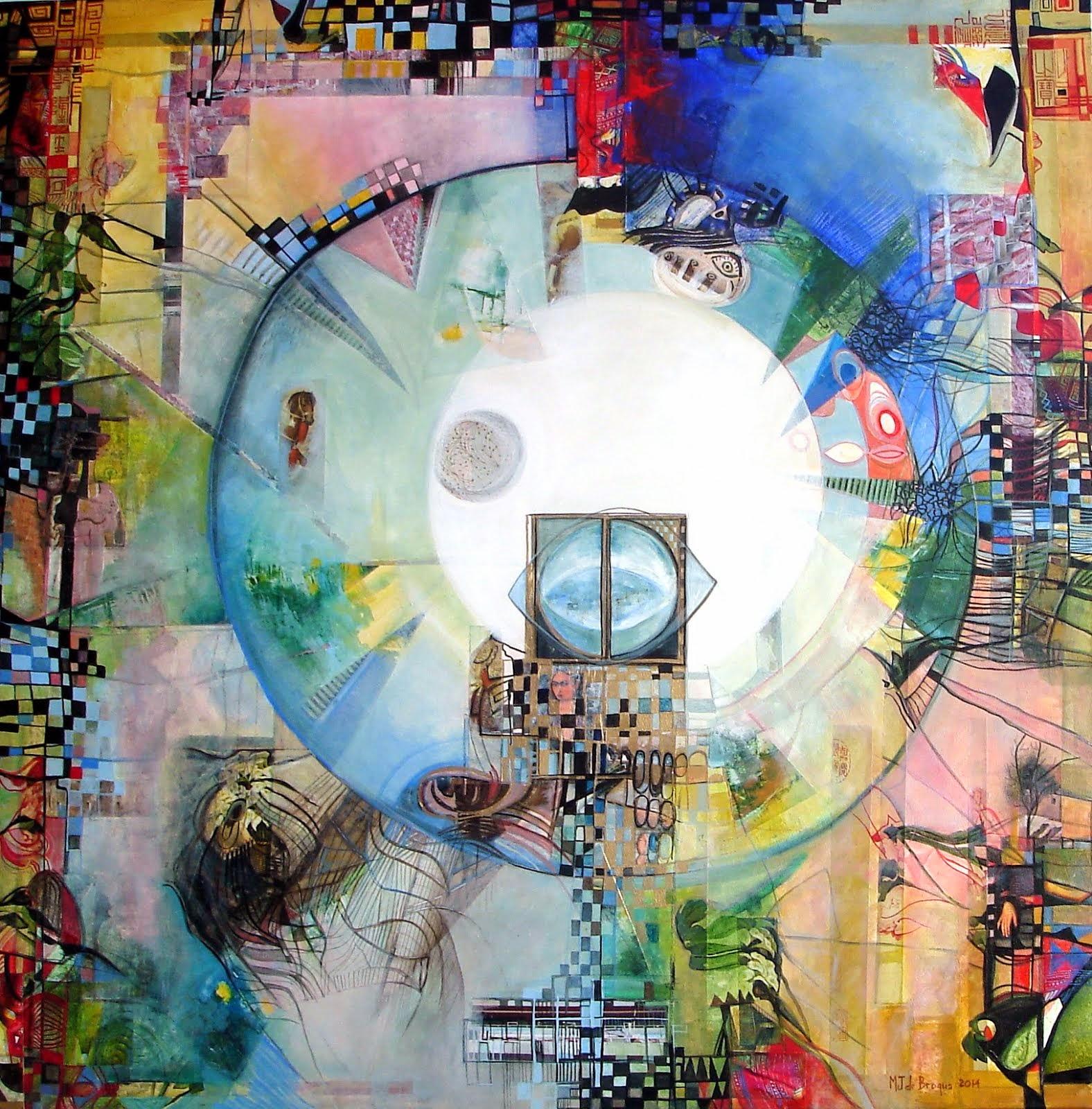 Le jardin des délices version 2014 - 90 x 90 cm