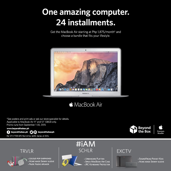 Beyond the Box's MacBook Air Lifestyle Bundles