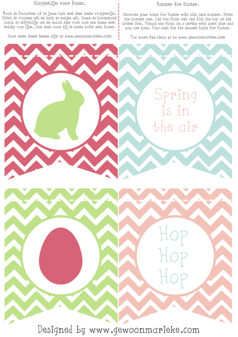 Comprehensive image intended for easter banner printable