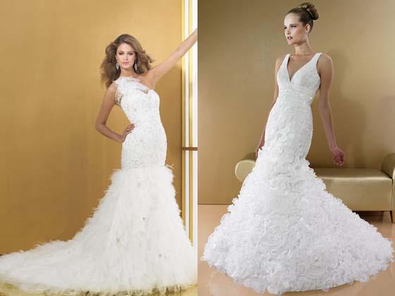 Vestidos de noiva estilo sereia e semi-sereia, todos lindíssimos!