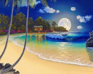Cuadros Paisajes de Luna Llena